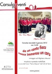 Locandina Carsulae 4 gennaio 2012