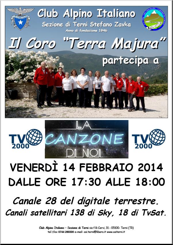 Locandina La canzone di noi TV2000 2014-02-14