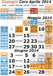Calendario impegni coro 2014-04-05-06ok