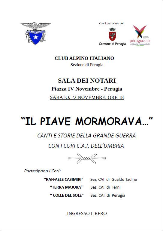 CLUB ALPINO ITALIANO SPETTACOLO 22 NOV