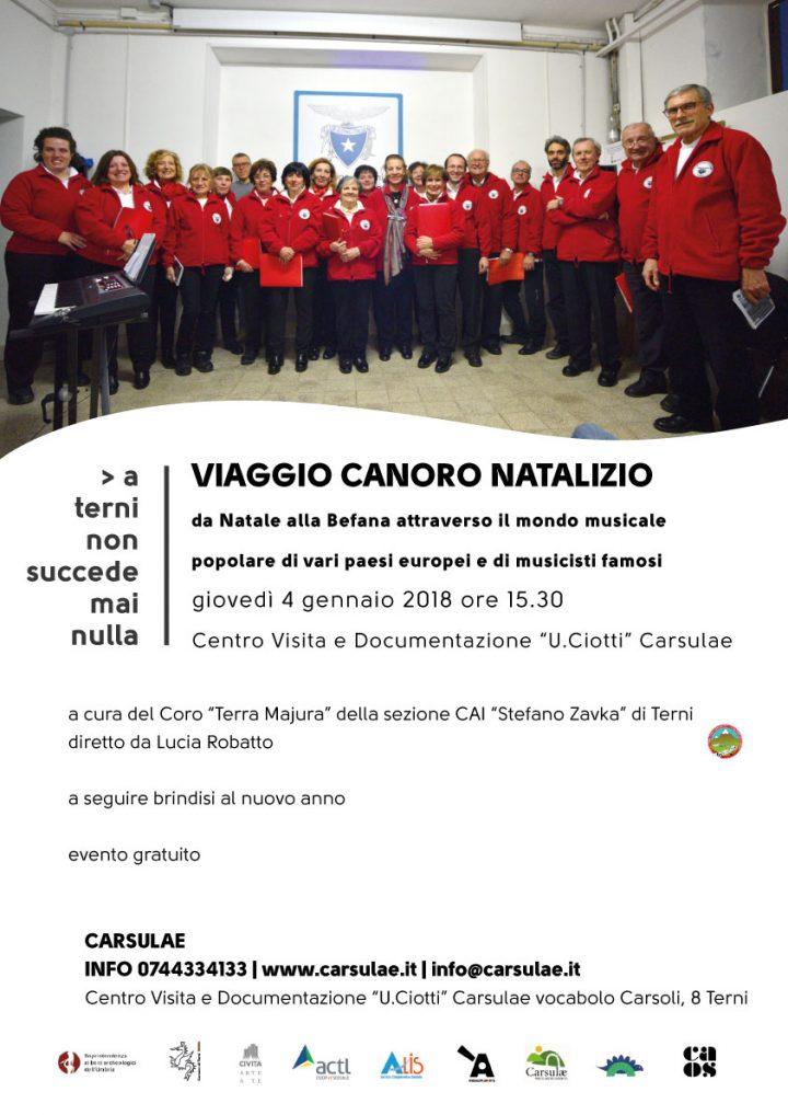 Locandina Carsulae 4 gennaio 2018
