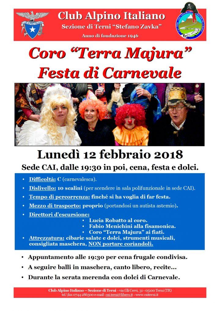 Locandina Carnevale 12 febbraio 2018