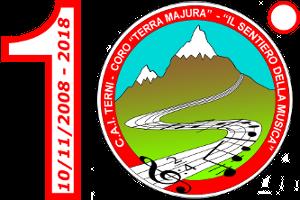Logo Coro Terra Majura bordo rosso