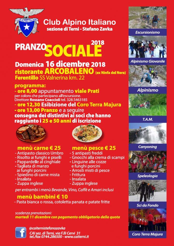 CAI manifesto pranzo sociale 2018