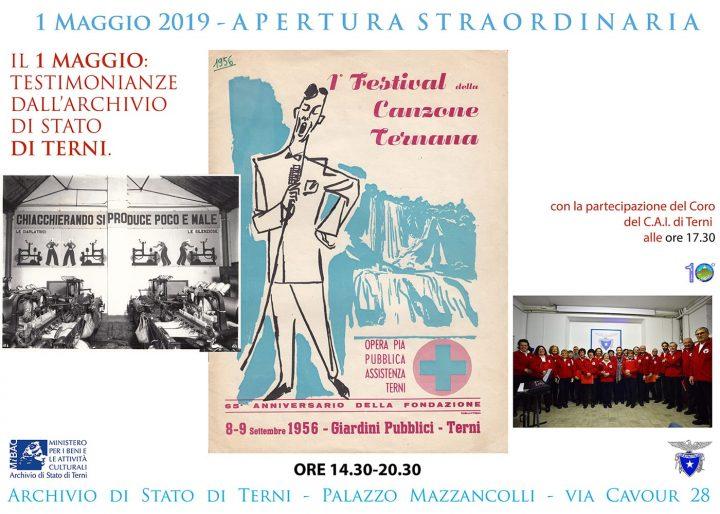 Locandina Archivio di Stato Terni 1 maggio 2019