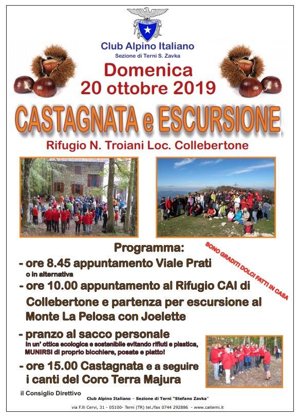 Locandina Castagnata CAI Terni 2019