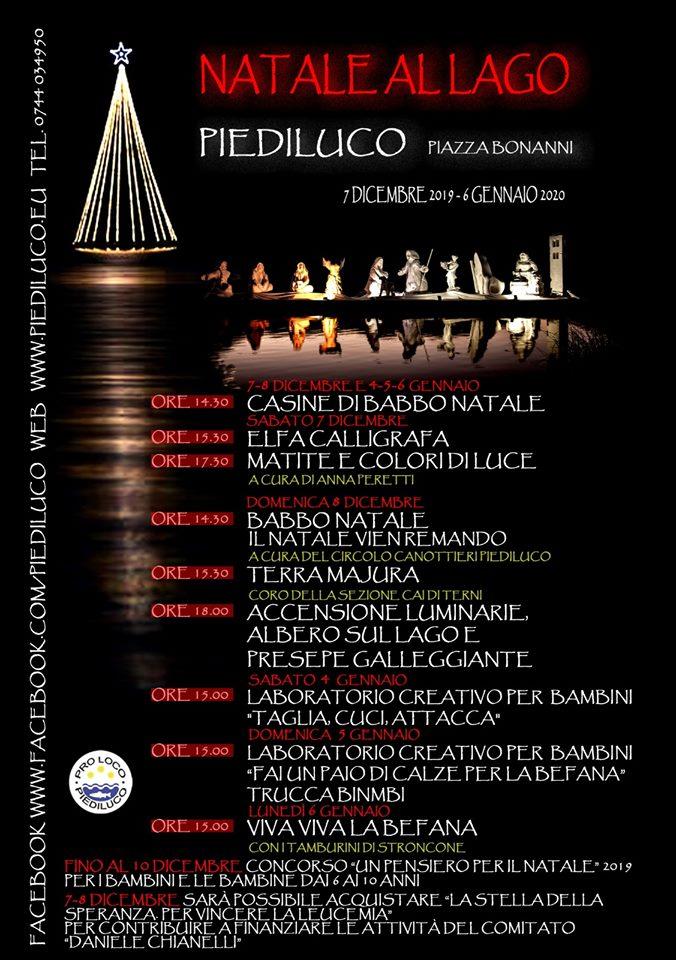 Locandina 8 dicembre 2019 Piediluco
