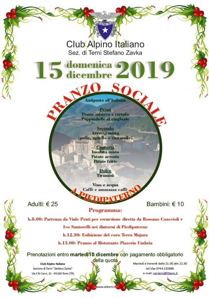 Locandina pranzo sociale 2019
