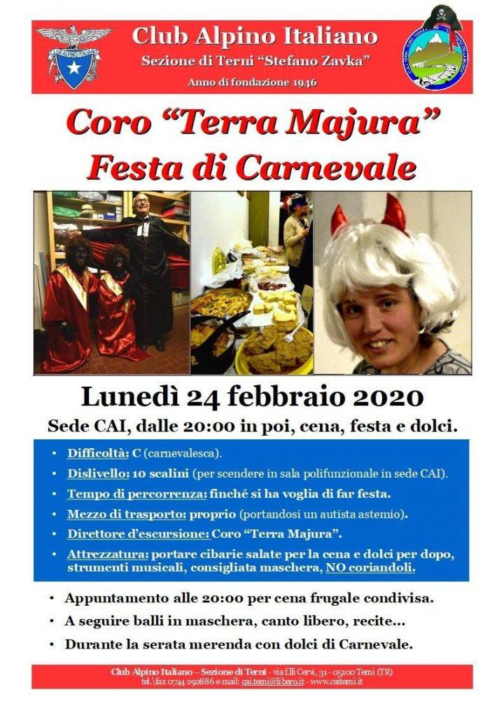 Locandina Carnevale 24 febbraio 2020